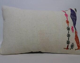 16x24 Lumbar Kilim Pillow Embroidered Kilim Pillow Throw Pillow Cushion Cover Handwoven Kilim Pillow Sofa Pillow Floor Pillow SP4060-961