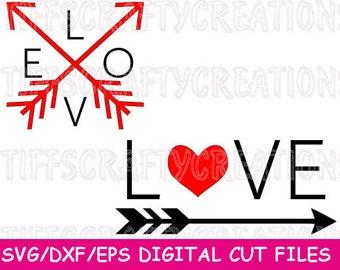 Arrow Love Svg, Valentine Svg, Valentines Svg File for Cricut, Valentine's Day Svg, Cricut Valentine Svg, Cricut Love File