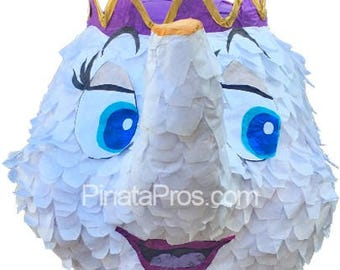 Mrs. Potts pinata from the movie Beauty and the Beast