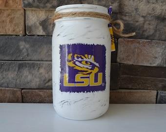 LSU Decorative Mason Jar