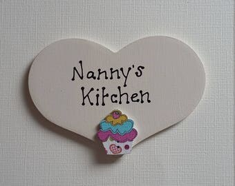 Personalised handmade heart kitchen fridge magnet