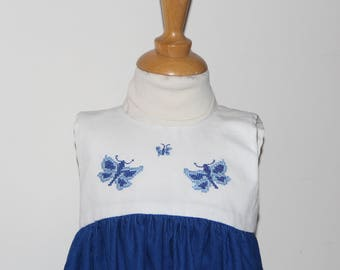 Hard T 12 month Blue Velvet Baby dress