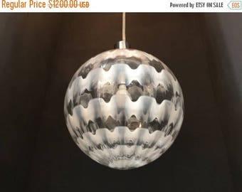 Sale Chandelier, Murano Sphere Pendant Light, Midcentury Murano Lighting, Wiring Compatible USA, Free Shipping USA