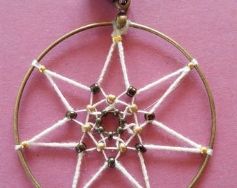 Pendant Wicca 7 point star.