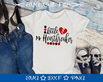 Valentine SVG File, Little Mister Heartbreaker Svg, Cupid svg, Love svg, Kids Valentine svg, Little Boy Svg, svg Valentine