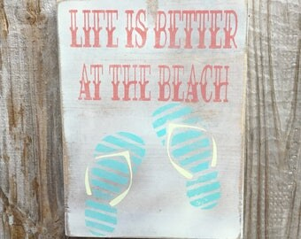 Life is Better at the Beach Porch wood sign,Rustic decor,Wood wall decor,Rustic beach sign,Beachhouse Decor,Beach life wood sign,Porch art