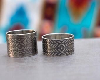 Southwestern Roller Print Ring - Southwest Inspired - Roller Print