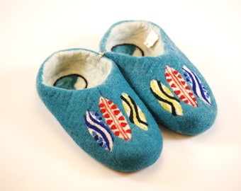 Surfer Womens Felted wool slippers