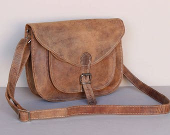 Vintage Leather Saddle Bag 12 Inch  12019
