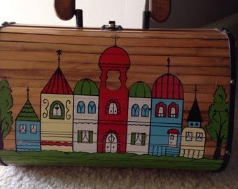 GARAY wooden slat purse