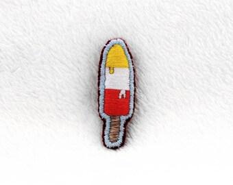 Ice cream Hand Embroidered Pin ~ Ice cream Hand Embroidered Patch ~ Ice cream Hand Embroidered Brooch ~ Ice cream Accessory