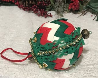 Vintage Christmas Ornament Christmas Tree Ornaments Hand Made with Fabric