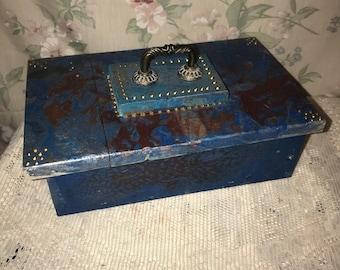 Macabre Wooden Ornate Strange Unusual Box