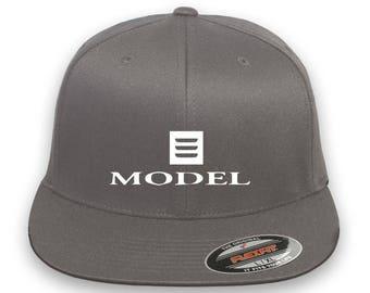 TESLA Model 3 Flex Fit Hat  Cap Baseball Embrodery