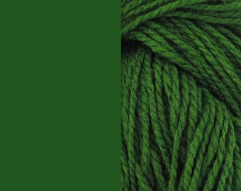 Wool, green | bulky, 2-ply worsted quick-knit pure wool yarn 100g/130m