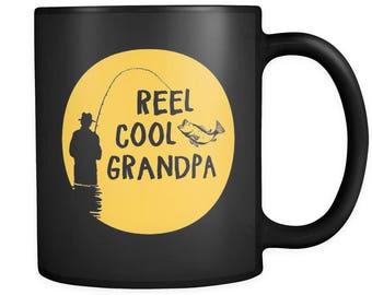 Fishing Gifts, Fishing Mug, Reel Cool Grandpa, Grandpa Mug, Grandpa Gift, Fisher Mug, Fisher Gift, Fisherman Gift, Fisherman Mug #a049