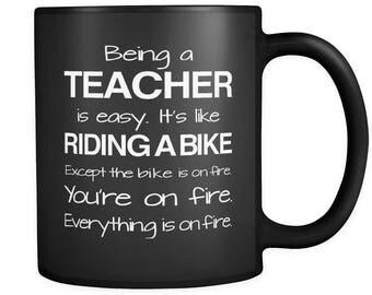 Teacher Gifts, Gift for Teacher, Teacher Mug, Teacher Mugs, Teacher Appreciation, Unique Teacher, Teacher Gift Idea, Teaching Gift #a144