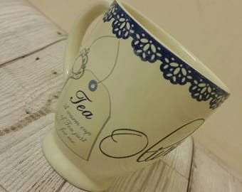 Personalised mug - tea mug - mug - tea - tea lover - mug - personalise - personalised - tea drinker - white mug