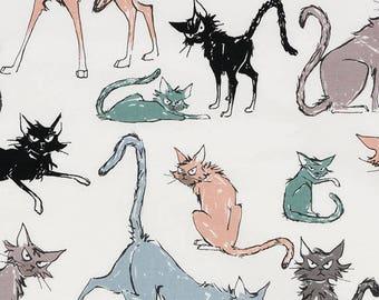 Ghastlies cat fabric SK222