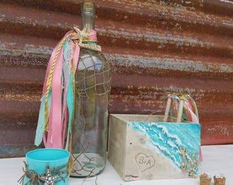Message in a bottle,Beach Wedding Guest Book, Wedding Guestbook, Wedding Guest Book alternative, Beach Wedding, Destination Wedding