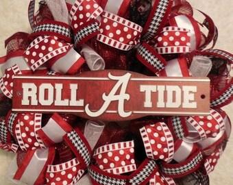 SALE Alabama Wreath, U of A Wreath, Alabama wreaths, Bama Wreath, Roll Tide wreath, Roll Tide, Roll Tide Wreaths, Alabama decor, Graduation