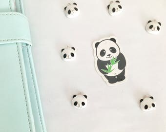 1 Charms panda email and alloy gold and hangs (silver color)
