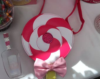 Swarovski Crystal Lollipop Sucker Candy Purse Bag