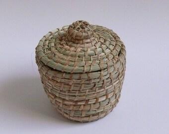 Basket Lid Storage Braided Africa