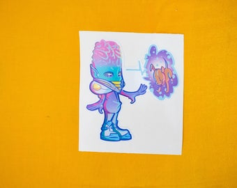 Alien abduction! (sticker)