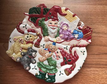 Vintage Christmas Cookie Tray