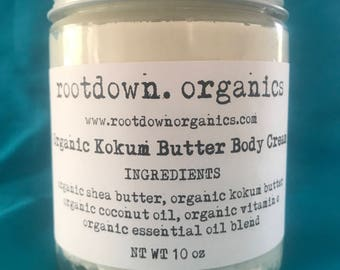 Organic Kokum Butter Body Cream - 10 oz