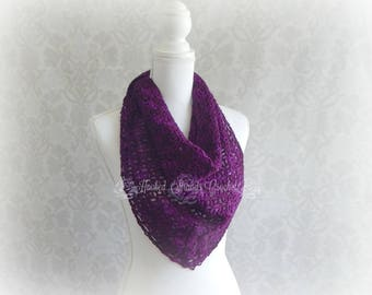 Crochet shawl, Purple shawl, Women's shawl, Ladies shawl, Lace shawl, Women's gift, lace cover up, Triangle shawl, Fortunes shawlette