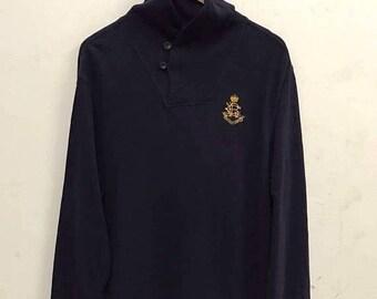 20% OFF Polo Ralph Lauren Seeatshirt Sweater Vintage Polo Sweater jacket Polo Sport Sportman Ralph Lauren jacket Polo Bear ski Polo 92 sz L