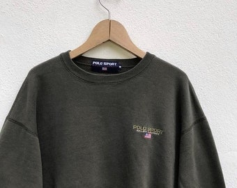 20% OFF Polo Sport Sweatshirt Vintage Polo Sweater jacket Polo Sport Usa Flag Sportman Ralph Lauren jacket Polo Bear Sz M