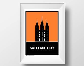 Temple Poster Series, No. 01, Salt Lake City