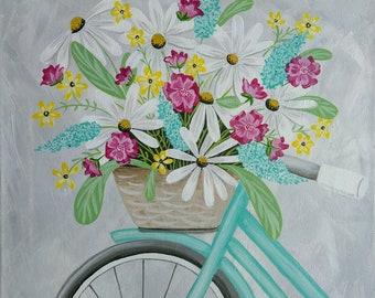 Bicycle Basket Full of Flowers