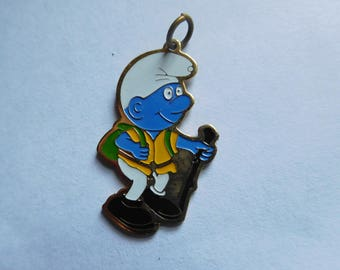 Vintage Hiking Blue Smurf Charm