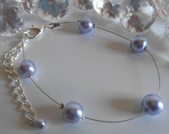 Simplicity wedding bracelet Lavender beads