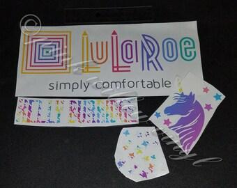 Inspired by Lularoe Vinyl Consultant car Decal for advertising on vehicle unicorn LLR Leggings