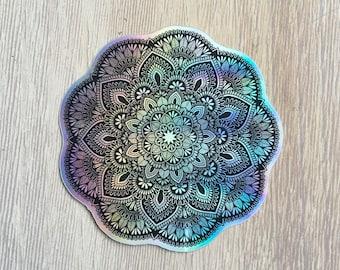 Holographic mandala sticker