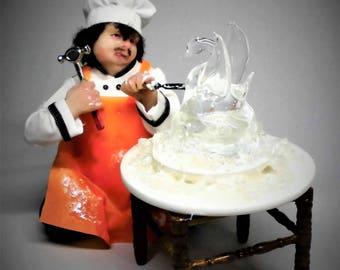 Cook ice sculptor for your restaurant