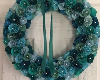 Paper Petite Rose Wreath