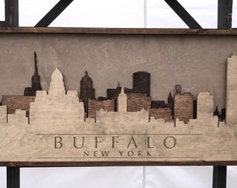 Buffalo, New York 3d Skyline