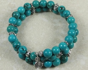 Memory Wire Turquoise Wrap Bracelet