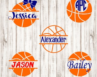 Basketball Monogram Decal, Basketball Decal,IPhone decal,Laptop decal,Cup decal,yeti decal, Sports decal, Basketball Binder decal