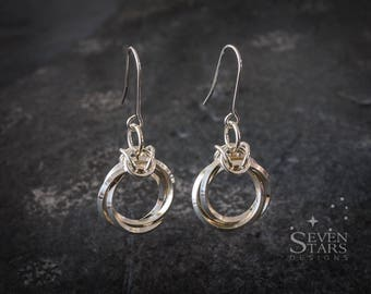 Sterling Silver Mobius Rosette Earrings