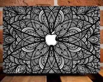 Black Mandala MacBook Pro Cover MacBook Air 11 Case MacBook Air 13 Case MacBook Pro 13 Case MacBook Pro Retina 15 Case Macbook Laptop Case
