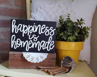 Mini happiness is homemade Wood Sign