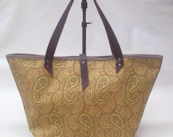 Bag made with golden yellow Paisley