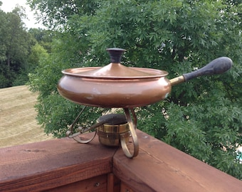 Copper Fondue Pot; Made in Portugal
